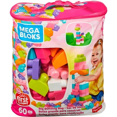 Mega Bloks Building Bag - 60 items