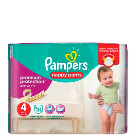 Pampers Premium Protection Active Nappy Fit Size. 4
