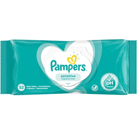 Pampers Sensitive Wet Wipes - 52 pcs