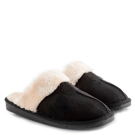 Relax Fur Slippers - Brown & Black