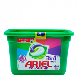 Ariel All In 1 Colour Washing Pods - 15 pcs