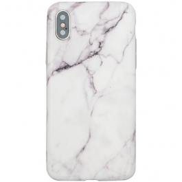 BasicPlus iPhone X/Xs Cover - White Marble