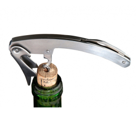 Wine opener with knife