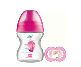MAM 190ml Feeding Bottle with teet – learn to Drink Cup 6+ months -Pink