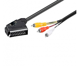 Goobay Scart til IN/OUT Cable - 2 meter