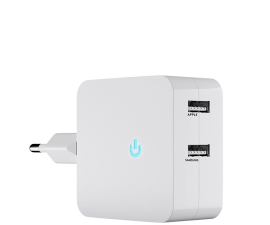 Goobay Large Dual USB Charger - White