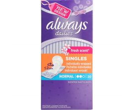 Always Fresh Scent Dailies Normal 20 pack