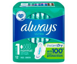Always Ultra Normal Instant Dry - 12 PCS