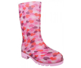 Children's Rubber Boots – Pink Hearts