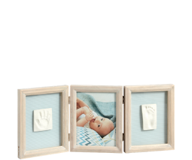 Baby Art My Baby Touch Double Stormy Frame & Clay Imprint