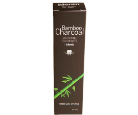Idento Bamboo Charcoal Whitening Toothpaste