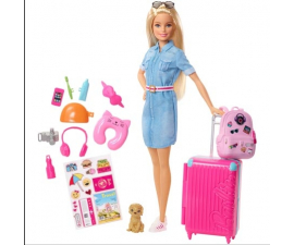 Barbie Dream House Doll & Travel Set