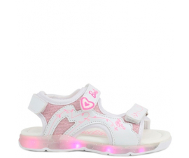 Barbie Sandals M. LED - White