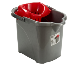 BasicPlus Mop Bucket with Drainer - 15 Liter