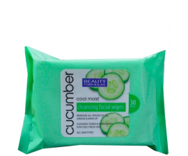 Beauty Formulas Cucumber Cleansing Wipes - 30 items