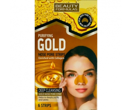 Beauty Formulas Gold Nose Strips - 6 items