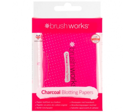 Brushworks Charcoal Blotting Paper - 100 PCS