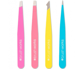 Brushworks Complete Tweezer Set - 4 PCS