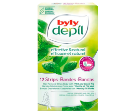 Byly Depil Face Wax Strips - 12 pcs