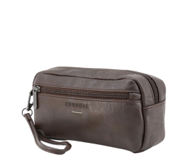 Carrera Jeans Underground Toilet Bag - Brown