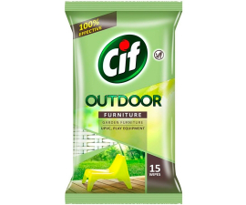 Cif Outdoor Furniture Wipes - 15 PCS
