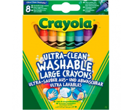 Crayola Ultra-Clean Crayons - 8 PCS