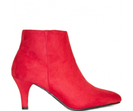 Duffy Ankle Boots - Red