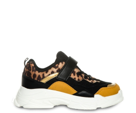 Duffy Sneakers - Sort & Leopard