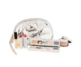Elizabeth Arden Beautiful Gift Box is a gift box that contains an eyeshadow palette with five colours, four shimmer powders, two lipsticks, and a lipgloss. The box also includes a lovely makeup pouchI
