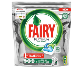 Fairy Platinum All In One Dishwashing Tabs - 35 pcs