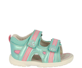 Brütting Flippo V Child's Sandal - Turquoise/Pink