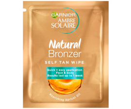 Garnier Natural Bronzer Tanning Wipe - 1 PCS