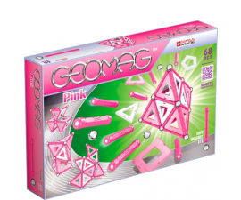 Geomag Construction Set Pink - 68 pieces
