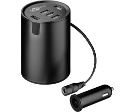 Goobay Cup Holder Car Charger w. 5 USB-Ports