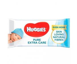 Huggies Pure Extra Care Wipes - 56 pieces