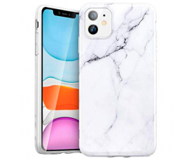 BasicPlus iPhone 11 Cover - White Marble