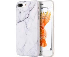 BasicPlus iPhone 7+/8+ Cover - White Marble