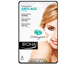 Iroha Hydrogel Anti-Age Collagen Eye Patches - 6 pcs