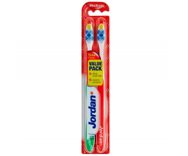 Jordan Total Clean Medium Toothbrushes - Assorted Colors