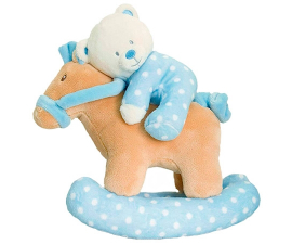 Keel Toys Teddy Bear On Rocking Horse