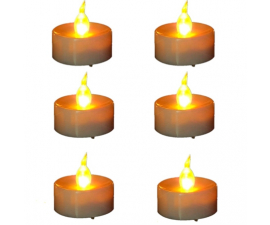 LED Battery Driven Tea lights - 6 items