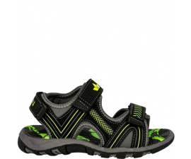 Lico Child Sandal - Black/Grey/Green