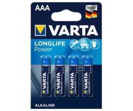 Varta Longlife Power AAA Batteries - 4 pack