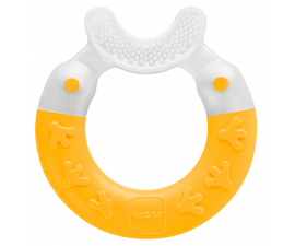 MAM Bite & Brush Teething Ring-Yellow