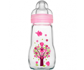 MAM Feel Good Glass Feeding Bottle +2 months - 260 ml