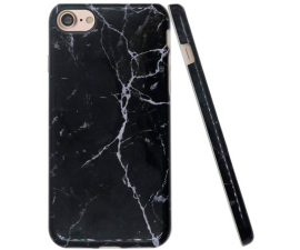 BasicPlus iPhone 7+/8+ Cover - Black Marble