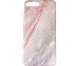 BasicPlus iPhone 7+/8+ Cover - Pink Marble