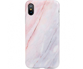 BasicPlus iPhone X/Xs Cover - Pink Marble