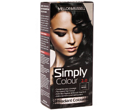 Mellor & Russell Simply Colour Hair Color - 2.0 Natural Black