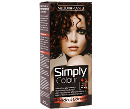 Mellor & Russell Simply Colour Hair Color - 4.5 Deep Red Brown